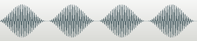 Audio sample waveform